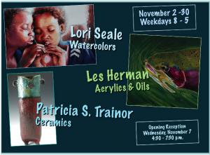 Artist Les Herman - Artists Reception At The Initial Point Gallery